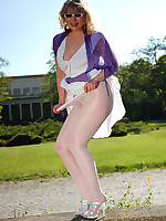 Angel outdoor in white colored kunert pantyhose