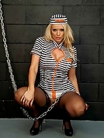 Inmate Lucy Zara is showing the Guards what they are missing, after keeping her locked in a cell all day!