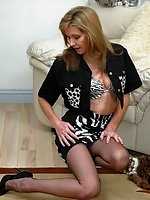 Sheer seams babe gets animalistic