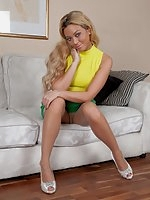 Funky chick Natalia is ready and able to pantyhose please and tease!