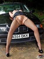 Dirty cum slut Carly drove out into the woods looking for some dogging action