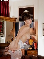 Hairy Kate loves her vintage lingerie and sheer nylons