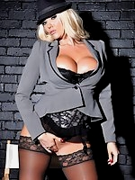 Lucy Zara iin  black lingerie and nylon