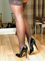 Michelle heels and nylons