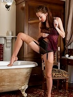Sophia Smith in her vintage nylons