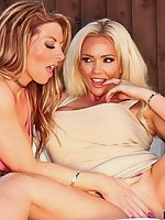 Lucy Zara gets Lynda Leigh all hot and bothered whilst sunbathing!