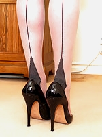 Holly in heels and she suggests giving yourself a little feel