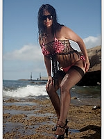 Sunny Day at the Beach wit Queen of Heels Gina