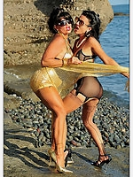 Sunny Day with Vintage Milfs Amanda Moreno and Eve Miller