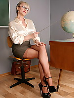 Alina Heels - Office Slut in Seamed Stockings